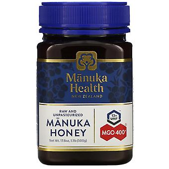 Manuka Health, Manuka Honey, MGO 400+, 1.1 lb (500 g)