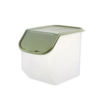 Kitchen Plastic Storage Container with Lid Small Green