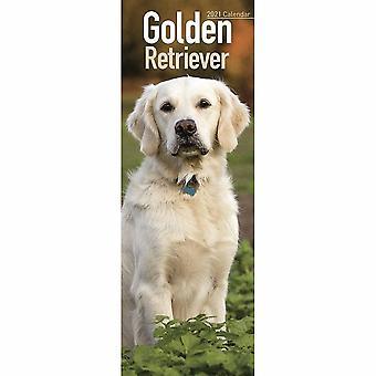 Otter House 2021 Slim Calendar-golden Retriever