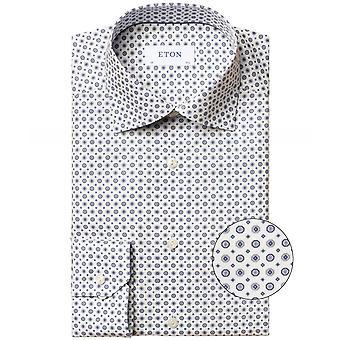 T-shirt slim fit met medaillon print
