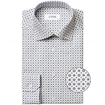 Eton Slim Fit Medallion Print Camisa