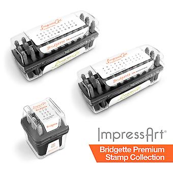 ImpressArt 3mm Bridgette Premium Font 75 pc. Full Collection