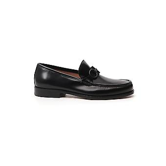 Salvatore Ferragamo 02c506732384 Heren's Black Leather Loafers