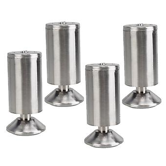 4 Pcs Stainless Steel Kitchen Feet Furniture Legs Round 2inchx 4.72inch