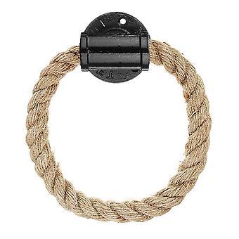 Hennep Rope Stijl, Wall Mount Handdoek Houder Ring