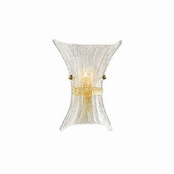 Ideal Lux Fiocco - 1 luz interior vidrio pequeño pared luz ámbar con decoración, E14