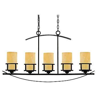 5 Light Ceiling Island Hänge Bar Brons, E27