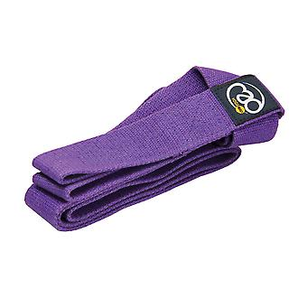 fitness mad yoga belt & mat carry strap purple