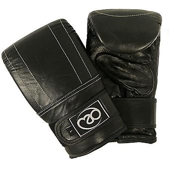 Fitness Mad Leather Pro Boxing Bag Mitt Training Gloves Sizes Small - Extra