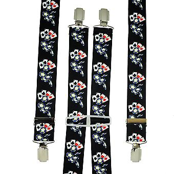 Ties Planet Playing Cards & Poker Chips Men's Trouser Braces