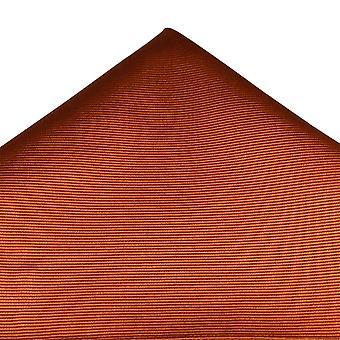 Ties Planet Plain Rust Oranje Zijden Zakdoek
