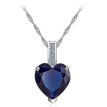 Fashion Heart Gemstone Necklace