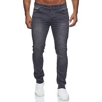 Men Jeans Slim Fit Stretch Stone Washed Effect Classy Style Basic Attractive Highlight