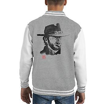 Sumi E Clint Eastwood Hyvä paha ja ruma Kid's Varsity Jacket