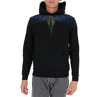 Marcelo Burlon Cmbb007f20fle051040 Men's Black Cotton Sweatshirt