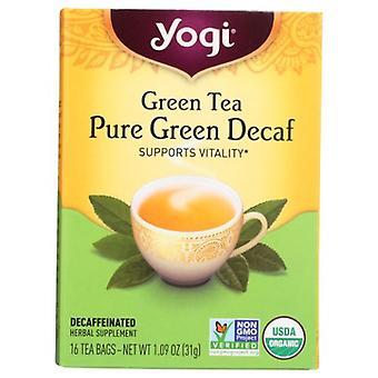Yogi Green Tea Pure Green Decaf, 16 bags