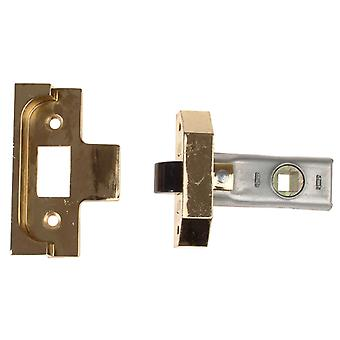 UNION Rebated Tubular Mortice Latch 2650 Electro Brass 63mm 2.5in UNNY2650EB25