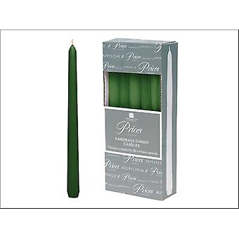 Prices Venetian Tapered Candles Evergreen 10in VW101021