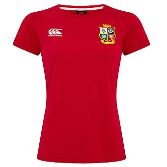 Canterbury British & Irish Lions Rugby Cotton Jersey Tee | Womens | Red | 2021