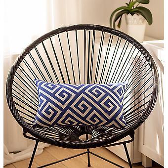 Cubierta de almohada decorativa de la llave griega