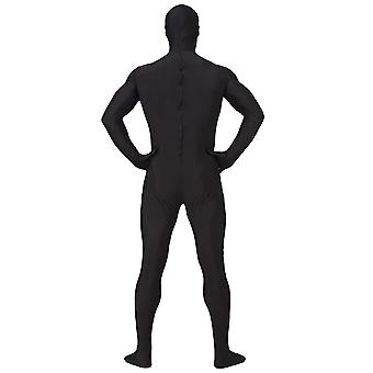 AltSkin Adult/Kids Full Body Stretch Fabric Zentai Suit - Zippered Back One Piece Stretch Suit Costume - Black