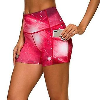 Women High Waist Sports Shorts Workout Running Fitness Gym Yoga
