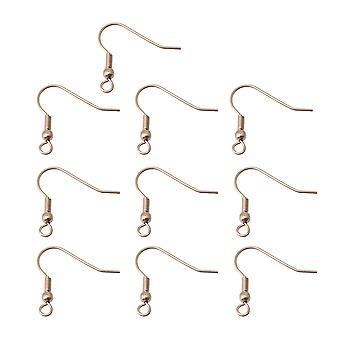 Edelstahl Ohrhaken Ohrring mit 2mm Loch Dia Rose Gold Pack von 10