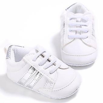 Baby Pu Leather Shoes, Sports Sneakers Newborn Stripe Pattern Soft Anti-slip