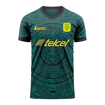 Club Leon 2020-2021 Home Concept Football Kit (Libero) - Volwassen lange mouw
