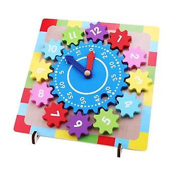 خشبية والعتاد كتلة الرقمية على مدار الساعة لغز اللعب التعليمية