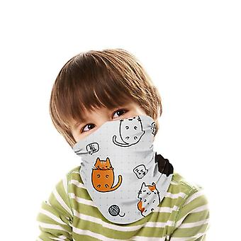 Kids Windproof Bandanam Scarfm Adjustable Pattern Neck Gaiter