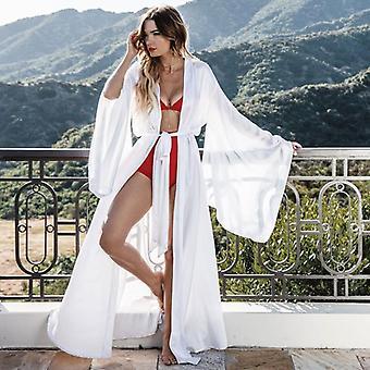 Vêtements de nuit à manches longues Nightgown Ladies Silk Satin Smooth Spring Lace Sleepwear