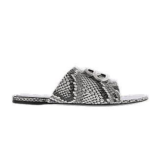 Balenciaga Oval Bb Sandal F Python Eff Beige 629537WBBK29181 shoe