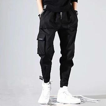 Streetwear Cargo Kalhoty Hip Hop Casual Multi Kapsy Harém Kalhoty
