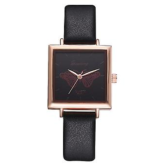 Top Square Women Bracelet Watch, Contracted Leather Quartz Clock
