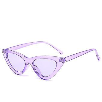 أزياء النظارات الشمسية امرأة العلامة التجارية مصمم خمر الرجعية الثلاثي القط العين
