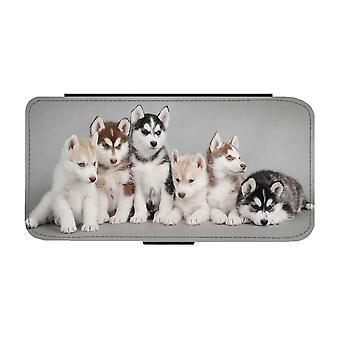 Siberian Husky Puppies iPhone 12 / iPhone 12 Pro Wallet Case