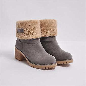 Winter Snow Warm Boots High Heels Fur Felt Russia Jeans Boots