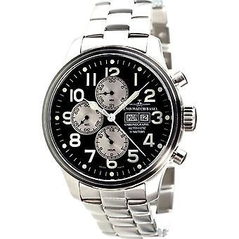 Zeno-Watch Wristwatch Men's OS Pilot Chronograph Day-Date Pilot 8557TVDD-b1M3