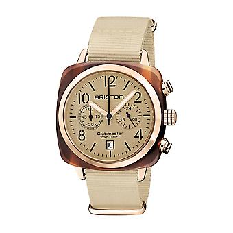 Briston 20140.PRA.T.39.NTV Clubmaster Classic Terracotta Acetate Wristwatch Cream