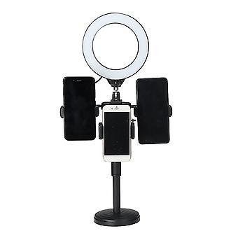 3200K-5800k desktop live stream selfie make-up led ring licht fill-in licht clip telefoon houder tik tok youtube video