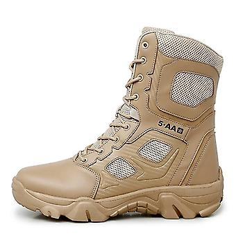 High Top Tactical Boots Waterproof Hiking Shoes Outdoor Hunting Mountain