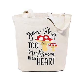 You Take Up Too Mushroom In My Heart-cotton Canvas Tote Bag