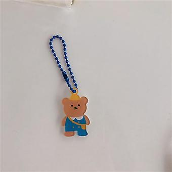 Cartoon Cherry, Angel Bear, Keychains Earphone Case Hanger, Student, Rugzak