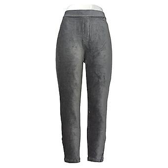 Susan Graver Dames>S Petite Pants Knit Corduroy Straight Leg Gray A297162