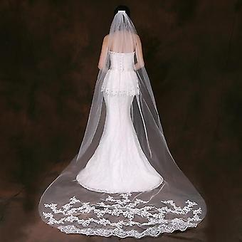 Veils Long Lace Edge Veil