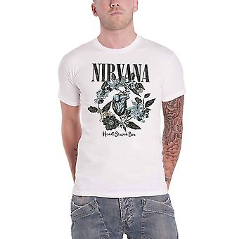 Nirvana T Shirt Heart Shaped Box Band Logo new Official Mens White