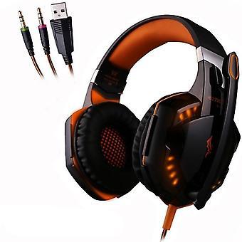 Gaming Headset Headphones Deep Bass Stereo Earphone With Led Light  Microphone
