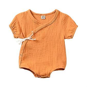 夏の赤ちゃん/女の子ロンパース、半袖プレイスーツ/ジャンプスーツ