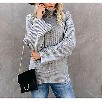 Turtleneck Sweater Women  Oversized Solid Pullovers